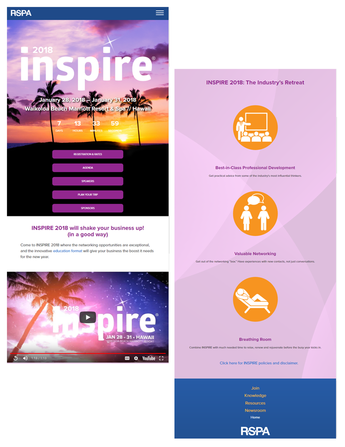 Inspire 2018 mobile layout