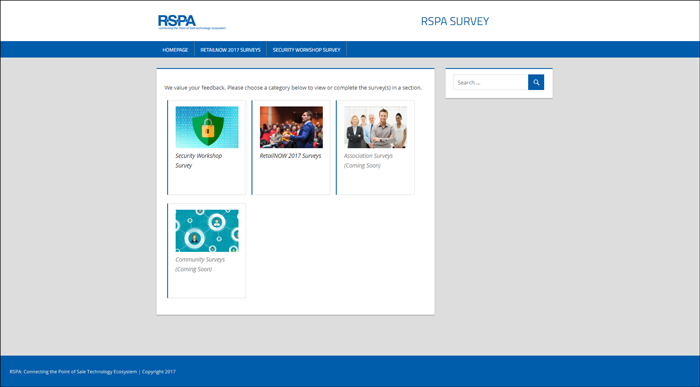 RSPA Survey screenshot